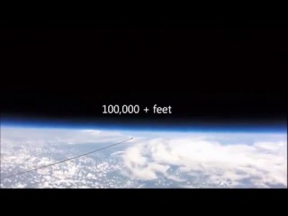 Flat Earth View from 108,000 feet !!! ( The higher you go ... the flatter it gets! ... )