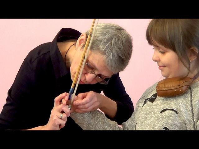 A055 Майстер клас по роботі з скрипалями початківцями