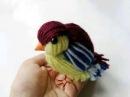 Птичка из ниток. Birdie from theads.