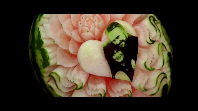 61 Wedding watermelon with photo Ślubny arbuz ze zdjęciem