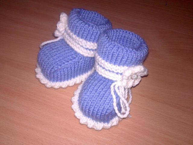 Вязаные пинетки спицами knitting booties Часть 1 Как связать простые пинетки спицами для начинающих