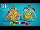 TUTORIAL PORTAMONETE CLIC CLAC MIMOSA UNCINETTO   CROCHET ● Katy Handmade