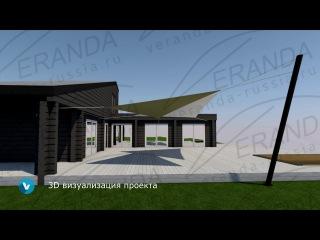 Проектирование навеса для террасы загородного дома | Теневые паруса VERANDA