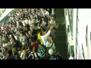 Torcedores do Figueirense levam cadeira de dirigentes do Palmeiras em confusão!