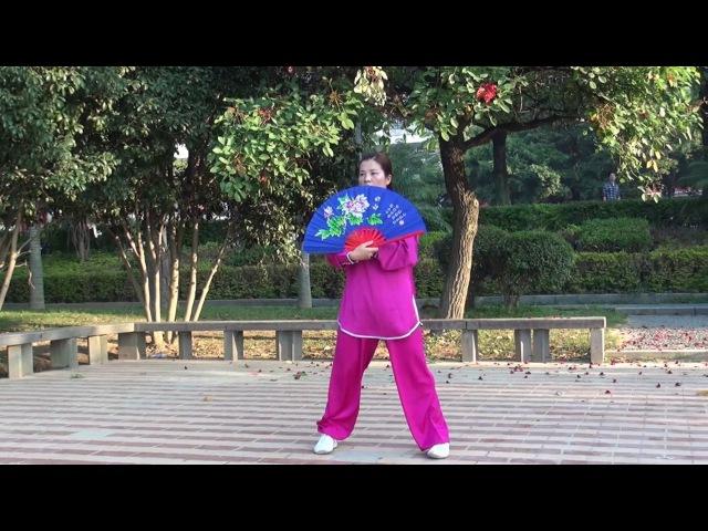 太极功夫扇 演练者:黄冬梅 (福清太极拳)2016年11月14日 01