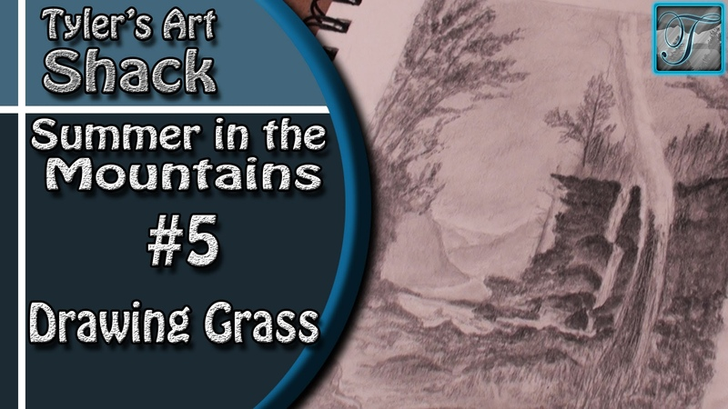 How to Draw Summer in the Mountains Part Five Adding Grass and Ground Texture