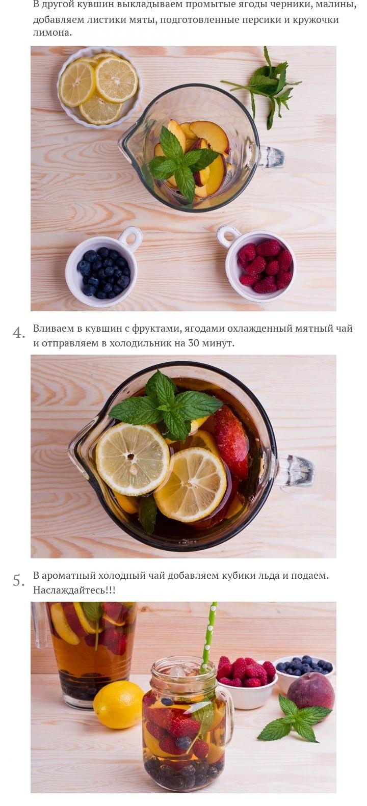 Холодный чай с фруктами и ягодами, изображение №3