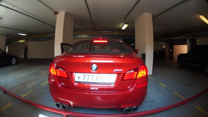 BMW M5 f10 Sakhir Orange Loudest Custom Exhaust Sound