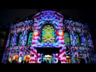 3D-шоу «Зимняя сказка» на фасаде Национальной оперы Украины