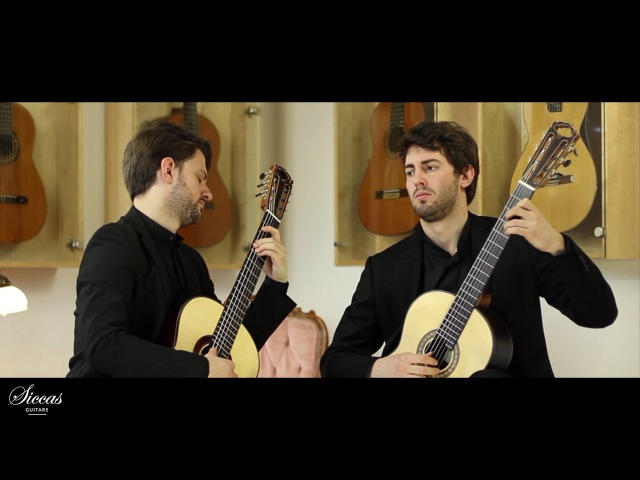 Tomasi Musso Guitar Duo plays Elegia from Sonatine by A Tansman on a HE Torres and Natural Lattice