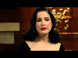 Burlesque Queen Dita Von Teese Answers Social Media Questions | Larry King Now | Ora TV