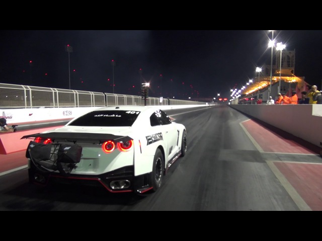 EKanooRacing's T1 R35 GTR Runs 7 12@330KM H 205MPH Video 2