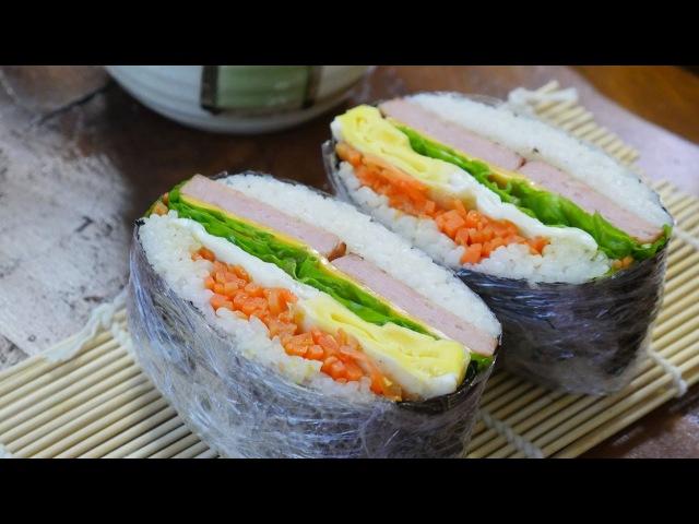 김밥보다 쉬운 오니기라즈만들기 rice sandwich 밥버거 우미스쿠킹 그녀의요리