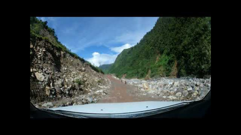 Banti road to Kambeli Area after flooding Sept 2017
