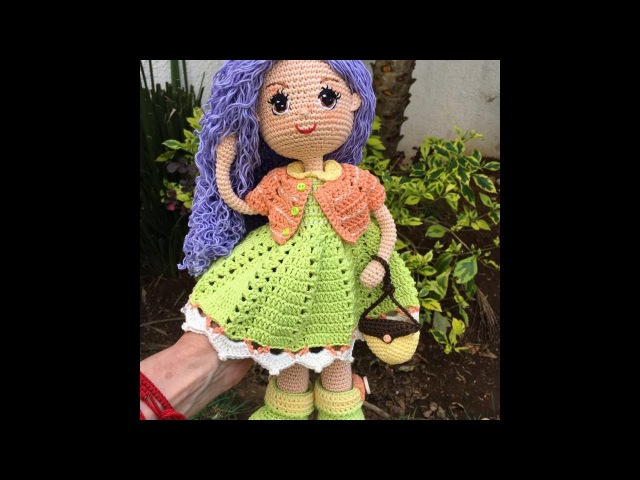 Vestido torera y bolsa muñeca Carolina amigurumi By Petus SEPTIMA PARTE 7 8