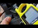 Using Hand Baby key cloner on Honda CBR 600 with a ID 46 transponder key