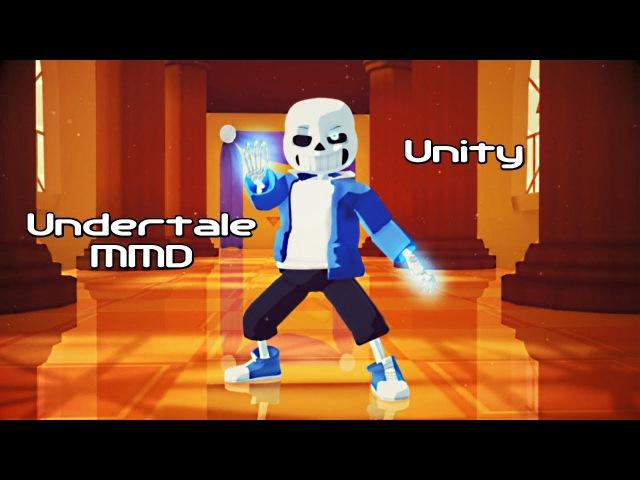 (Undertale MMD) UNITY - Sans Vs Chara