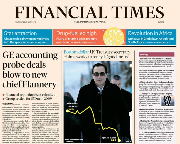 Financial Times Europe - Jan 25, 2018