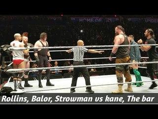 [WBSOFG] Seth Rollins & Finn balor & Braun strowman vs Kane & The Bar Live event match | WWE Okc