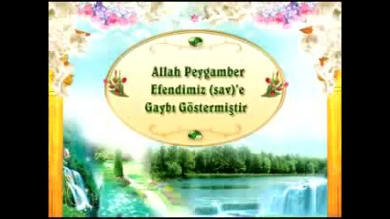 Allah Peygamber Efendimiz sav'e gaybı göstermiştir 2