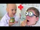 МОИ ГЛАЗА !! Алиса играет в ДОКТОРА со мной PLAY DOCTOR Entertainment for children