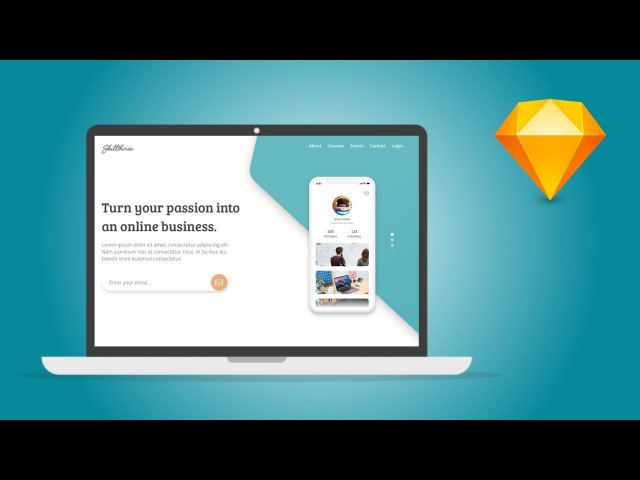 Sketch App Tutorial – Design a simple landing page in Sketch