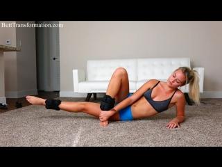 Thigh gap sexy booty workout | упражнение на ноги и ягодицы