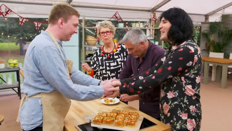 The Great Celebrity Bake Off for Stand Up to Cancer Part 4 Lee Mack Griff Rhys Jones Melanie Sykes Joe Lycett