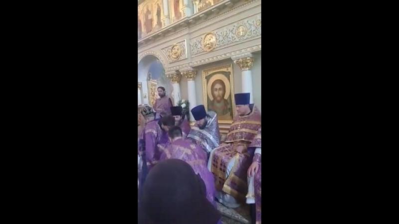 Умовение ног в Спасском соборе Пятигорска 5 апреля 2018