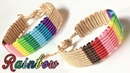 Macrame tutorial - how to make The colorful rainbow bracelet - Easy with basic know for starter
