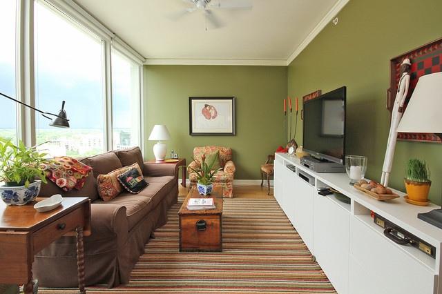 Как расставить мебель в длинной и узкой комнате, изображение №2