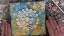 Wax on Wednesdays Encaustic Painting Winter Snow Flakes Stencil Fun !