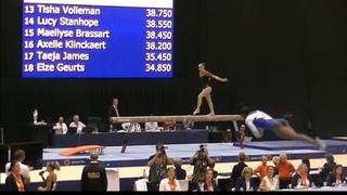 Tisha Volleman (NED) Balance Beam - Int. Gymnastics Comp. Heerenveen, The Netherlands WAG AA