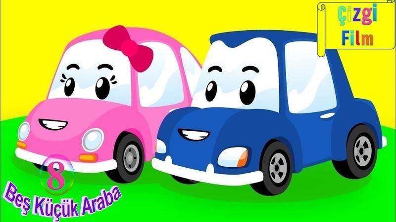 Beş Küçük Araba Saymayı Öğreten Çocuk Şarkısı Arabalı Şarkı