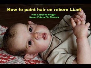роспись волос! How to Paint Hair on LIam by Bonnie Brown