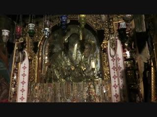 Видео запись молитвы пред Иконой Божией Матери Скоропослушница. гора Афон, Монастырь Дохиар.