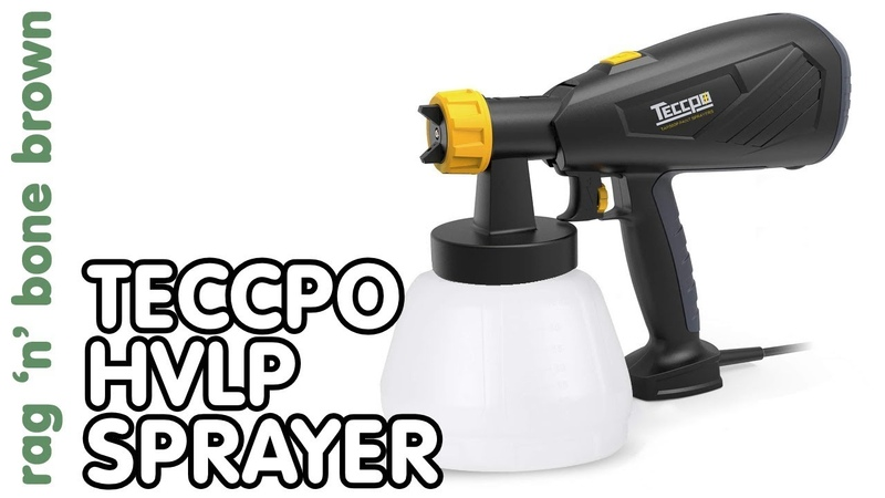 Cheap £30 HVLP Sprayer for paint / finishes by Teccpo - Review
