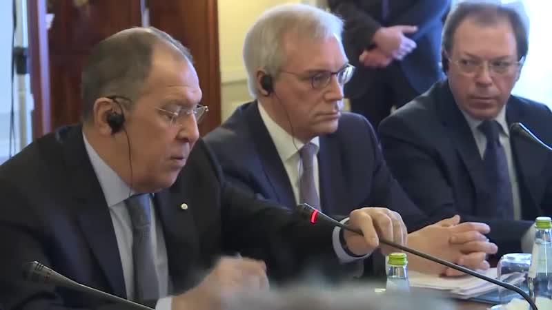 Вступительное слово С.В.Лаврова в ходе встречи в широком составе с Государственным секретарем Сан Марино Н.Ренци