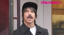Anthony Kiedis From The Red Hot Chili Peppers Stops By Alfred Tea On Melrose Place In The Rain