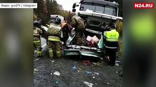 В Челябинской области два человека погибли при столкновении легковушки и грузовика