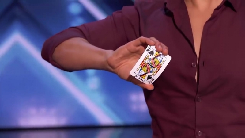 Card Magician Wows Tyra Banks on Stage America's Got Talent Got Talent