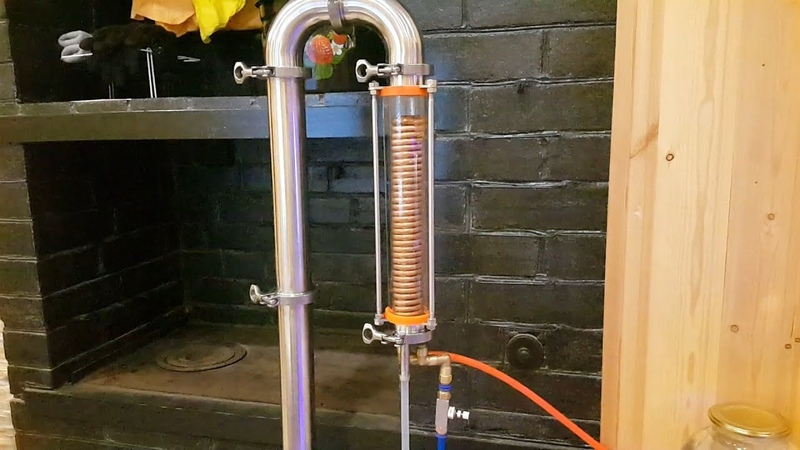 Дистилляция через холодильник Димрота Distillation through a condenser Dimroth