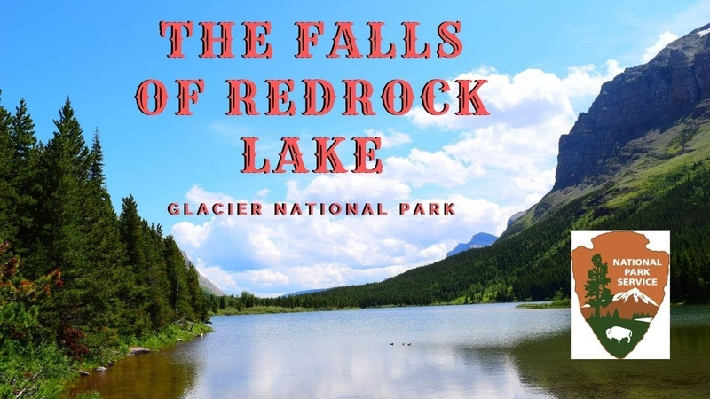 Hiking to Redrock Lake and the waterfalls in Glacier National Park From the Many Glacier Campground.