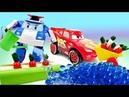 Робокар Поли и машинка Маквин чинят трактор - Мультики про машинки для малышей