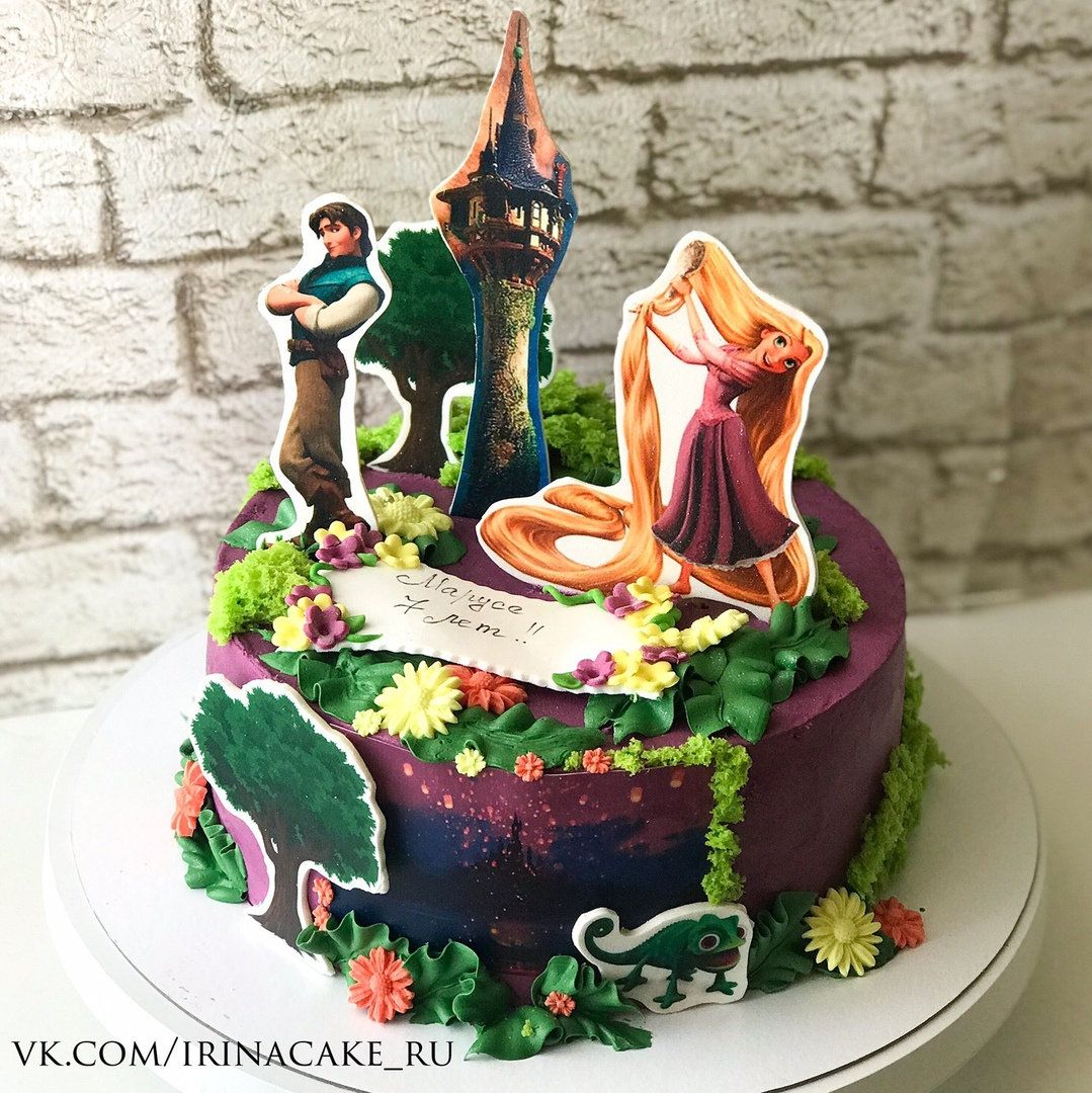 торт для девочки с рапунцель (Арт. 499)