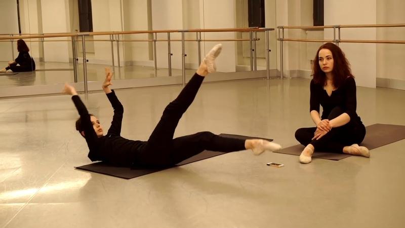 Maria Khoreva ballet warm up
