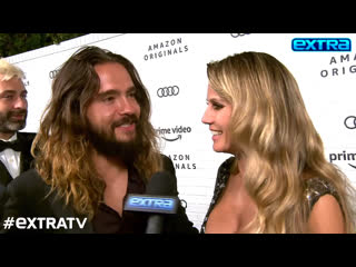 Extra tv tom kaulitz & heidi klum interview at hbo after-party