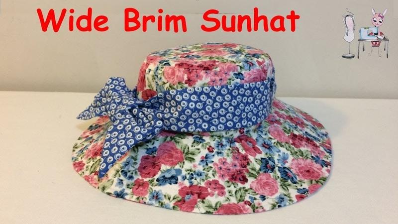 DIY Sunhat Wide Brim Hat Chapeau de solei l Sombrero 태양 모자 日よけ帽