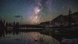 The Night Sky at Mirror Lake in the Snowy Range, WY - August 2016