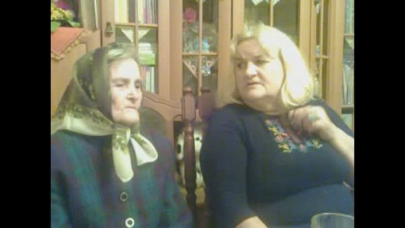 08.01.2014 р. Баба з мамою співають.